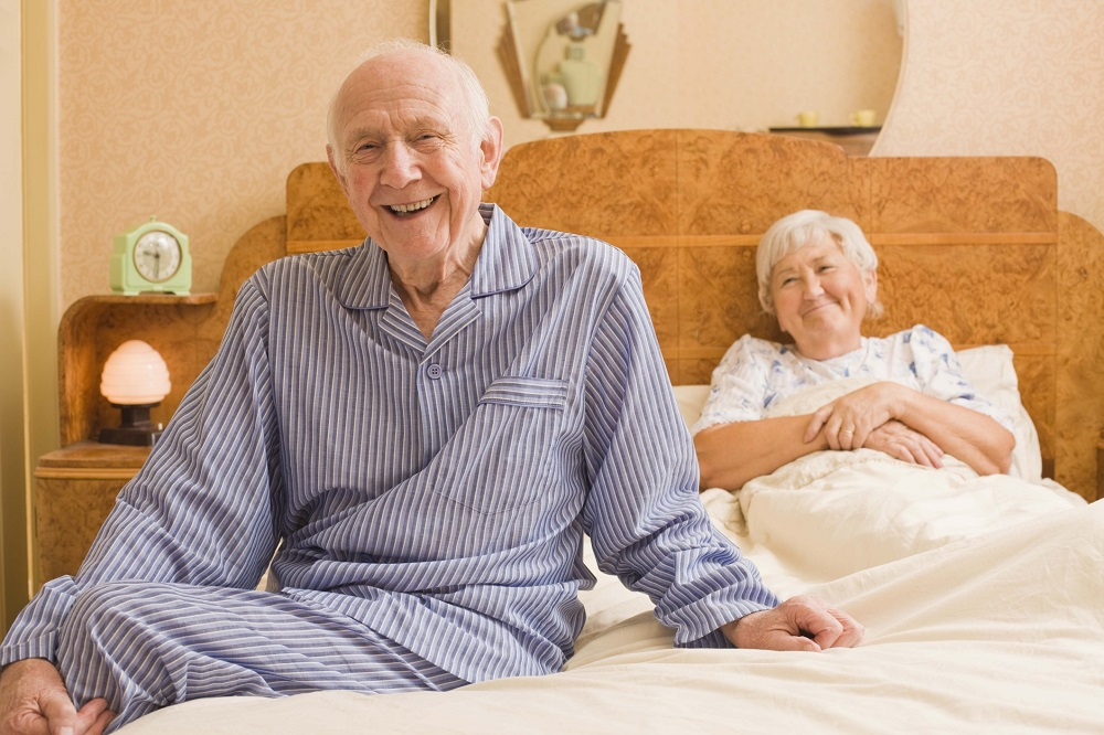Elderly married couples and sex