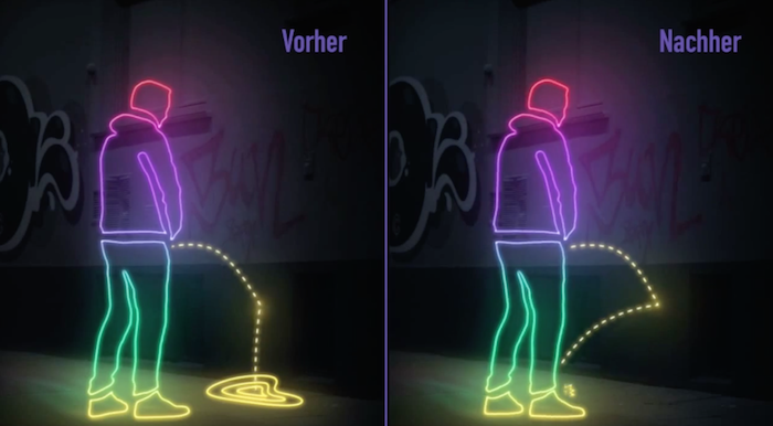 VIDEO: These walls pee back on drunk Germans