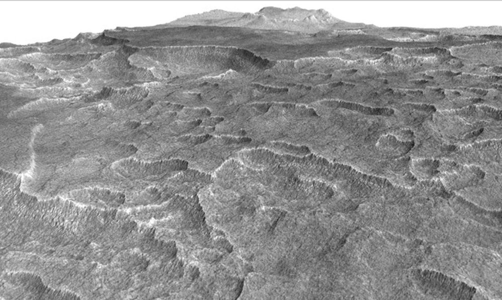 Icy Martian lake holds as much water as Lake Superior