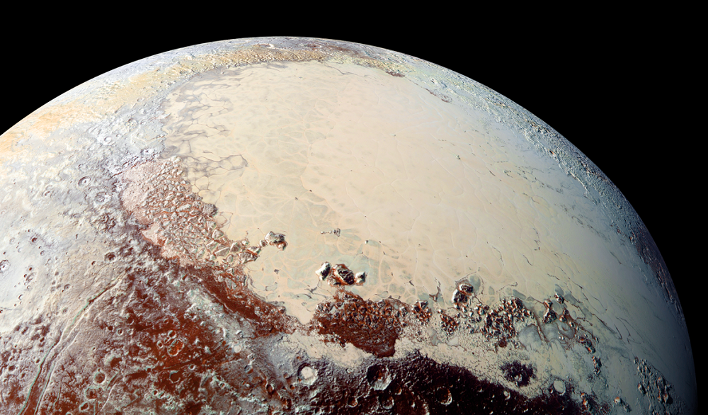Pluto's heart-shaped region hides an icy sea underneath