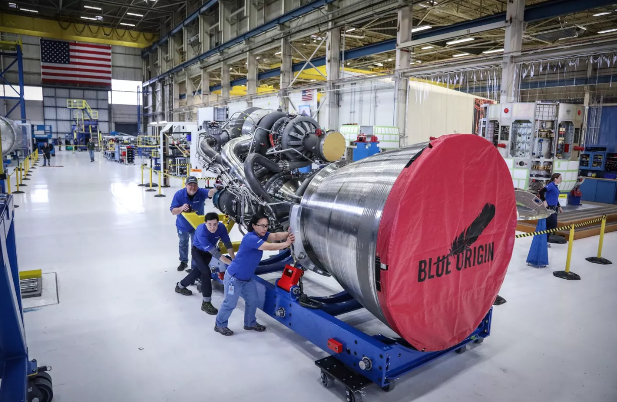 Blue Origin shows off new giant rocket engines