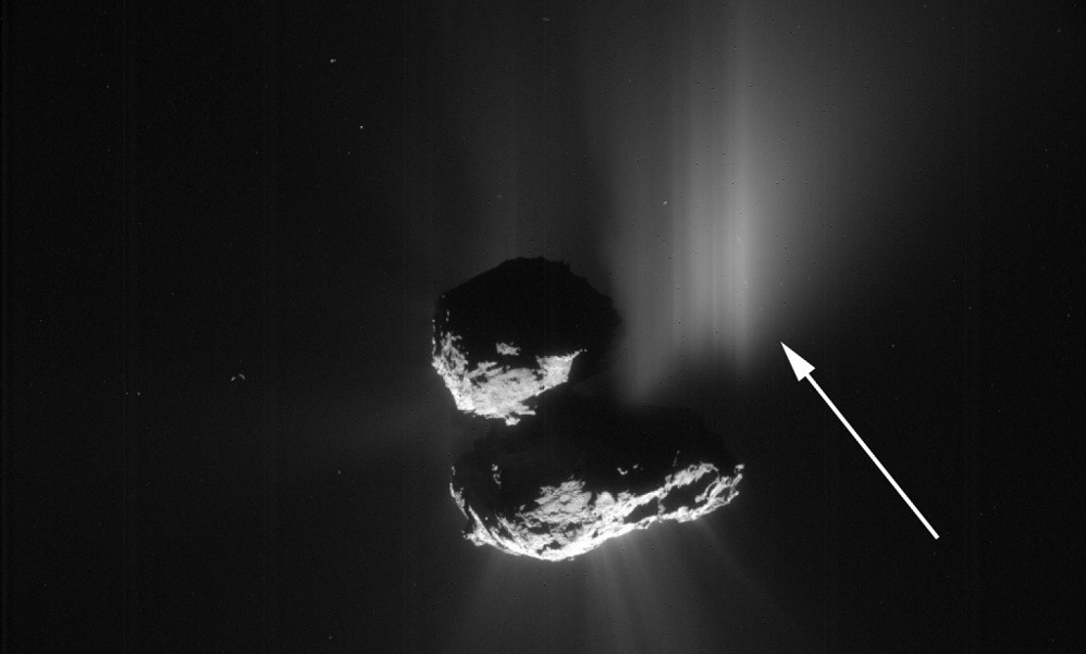 Scientists capture first-ever evidence of landslide on a comet
