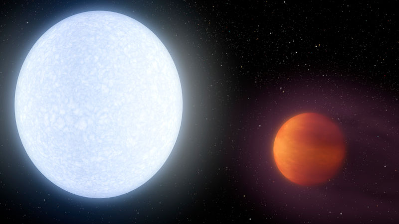 Newfound exoplanet is hotter than most stars