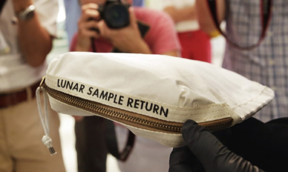 Neil Armstrong's lunar sample bag may set records at auction