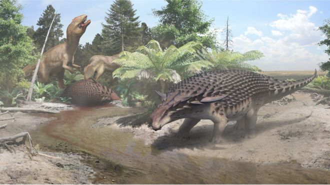 Massive armored dinosaur relied on camouflage for safety