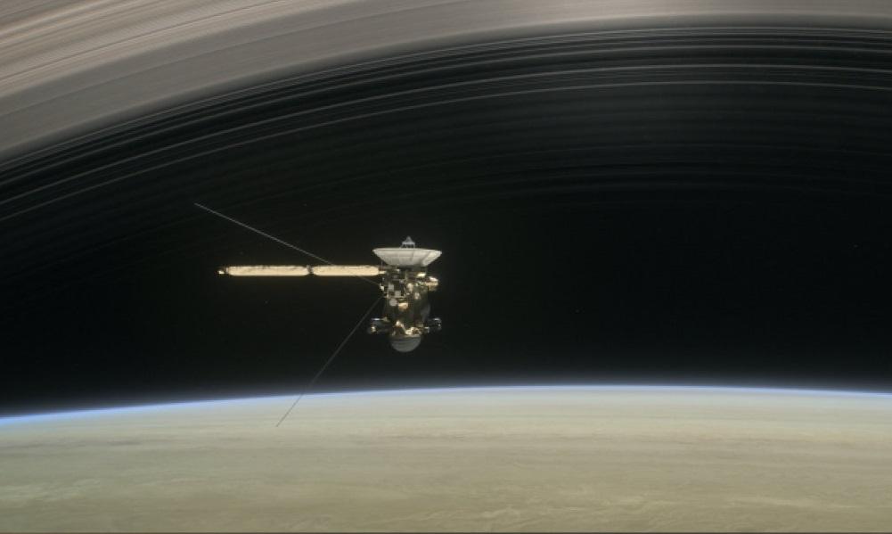Cassini dips into Saturn's atmosphere